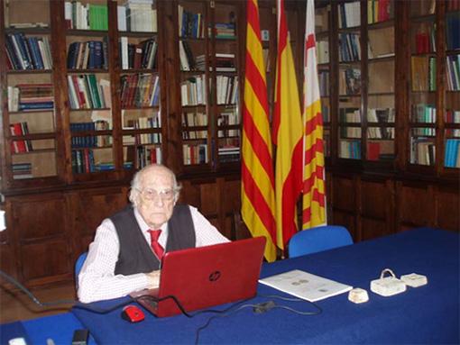 D. Josep Pellicer i Bru en la sede de A.N.E.